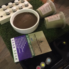 The ingredients and hair paste for the scalp treatment at Scalp Trichocare Hairspa. All the ingredients used natural and contain no preservatives.